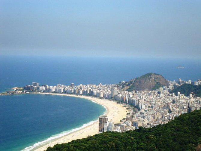 A view of Copacabana Beach in Brazil.