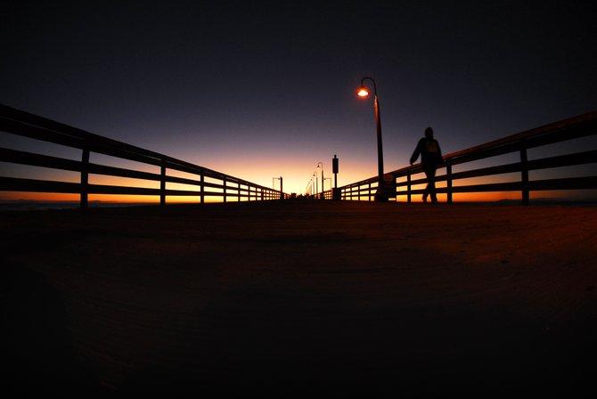 I.B. Pier at dusk.