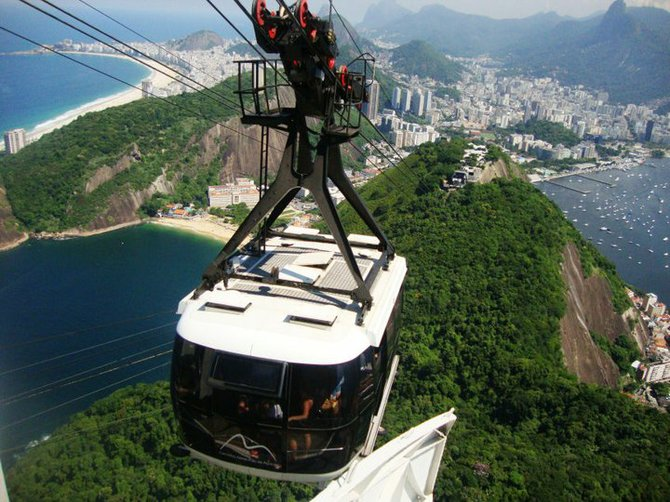 A view from the Sky Tram in Brazil.