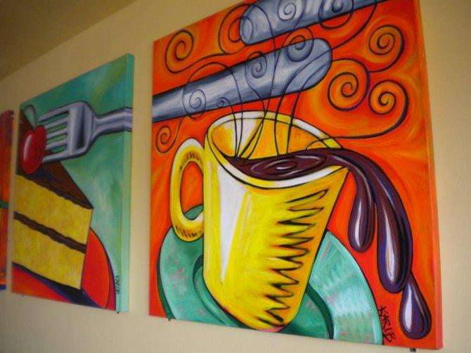 "Interior art by ""Karob"" (Katherine and Robert Bender)"
