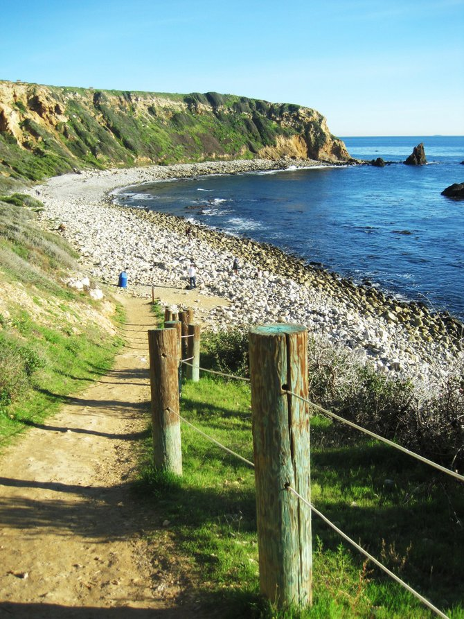 The path to the tide pools of Palos Verdes.