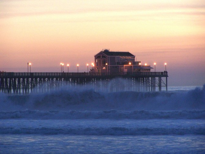 This is the Oceanside Pier in late December.