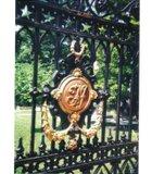 Thomas Jefferson's monogram on his private cemetery gate, Monticello, Charlottesville, VA.