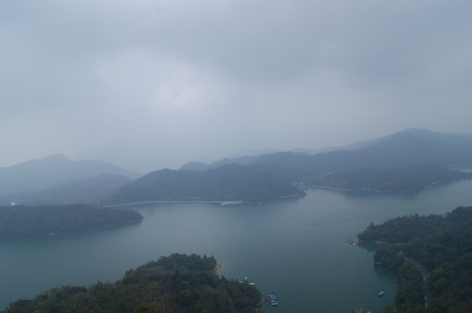 Pagoda view of Sun Moon Lake