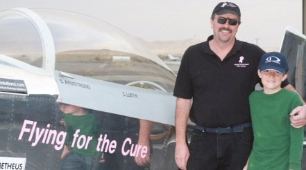 Stephan and Charlie Armstrong aim to fly around the world in a plane they built themselves.
