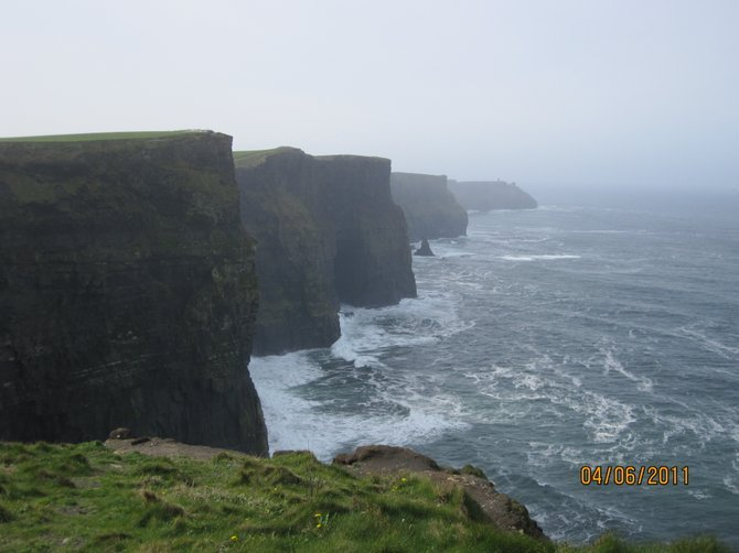Cliffs of Moher is a must see.  These magnificent, high, undulating cliffs offer unforgettable views.
