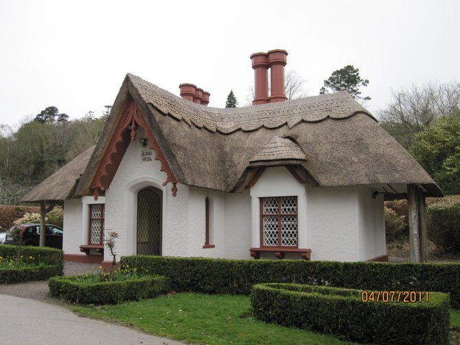 Traditional thatch roof house / cottage seen throughout the area.  This one was built in 1834.