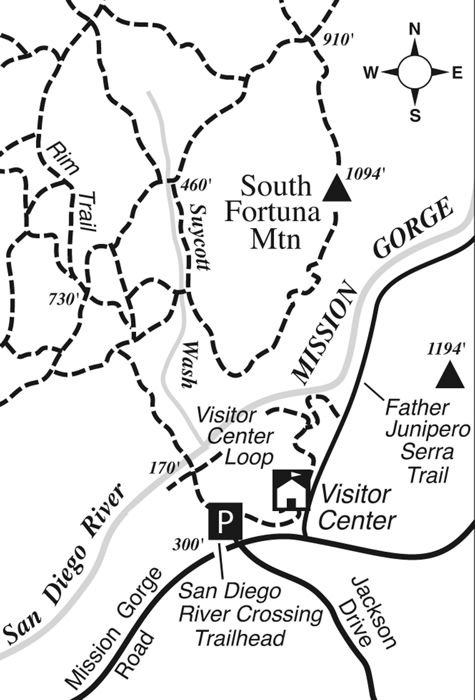 South Fortuna trail map