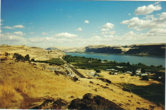 Columbia River, viewed from above Maryhill, WA.