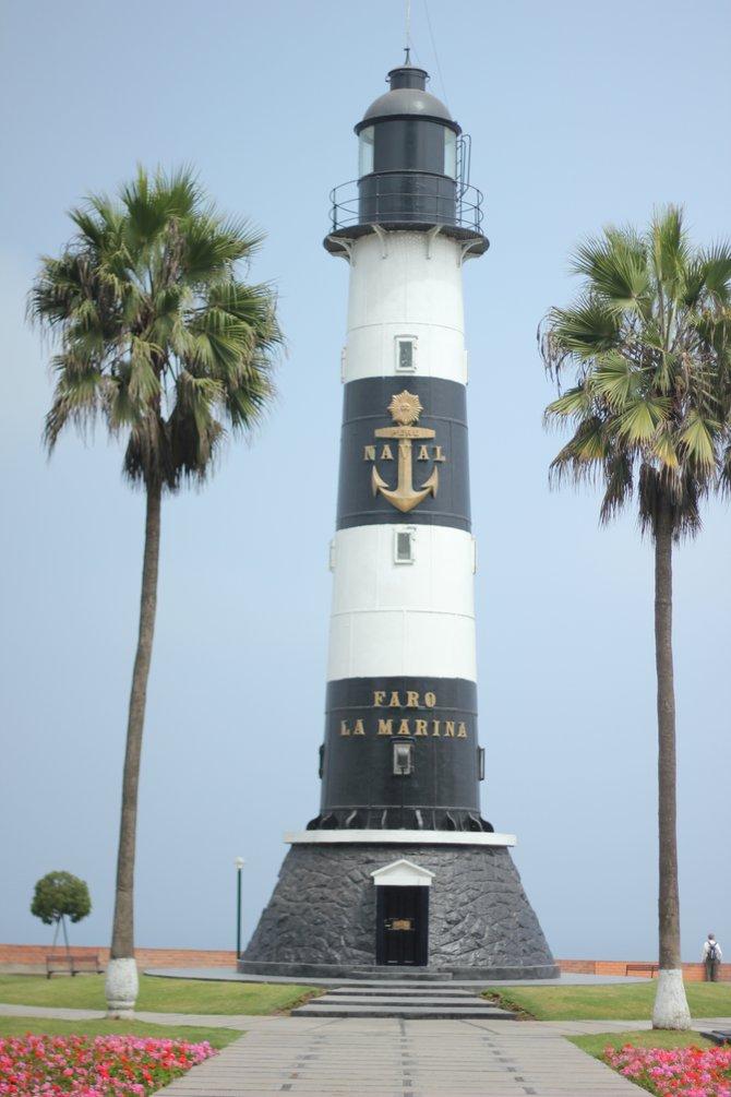 Faro La Molina lighthouse in Miraflores, Lima, Peru.