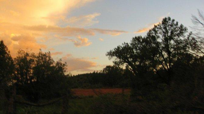 Sun setting over Sedona, AZ.