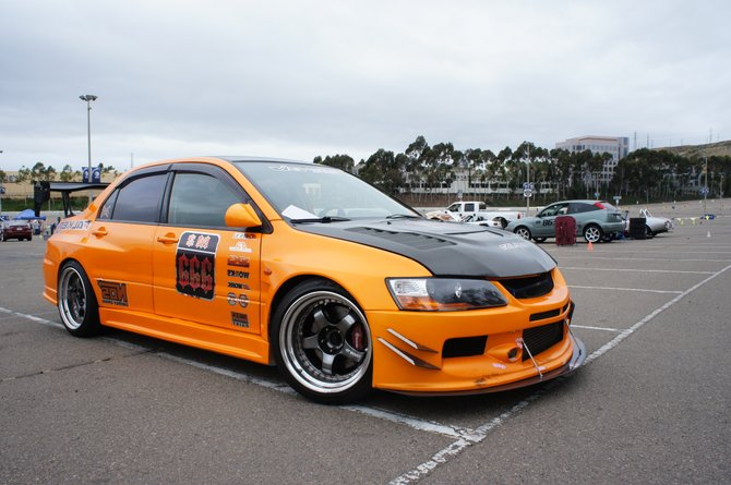 Highly modified Evo. Cool owner too, I'm sure you'll see them around.
