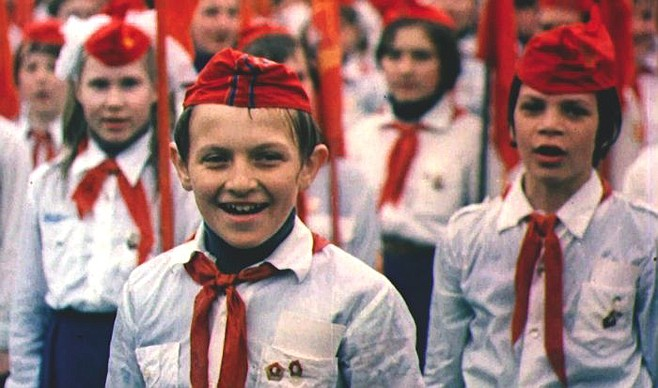My Perestroika — Young Pioneers on Red Square during a Soviet May Day demonstration