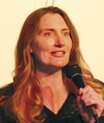 Sindi Somers is a comedienne and former host of Open Mic Night at South Park Abbey.