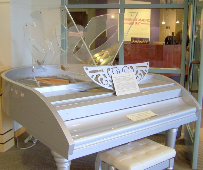 Winged Grand Piano, in the MUSEUM OF MAKING MUSIC.