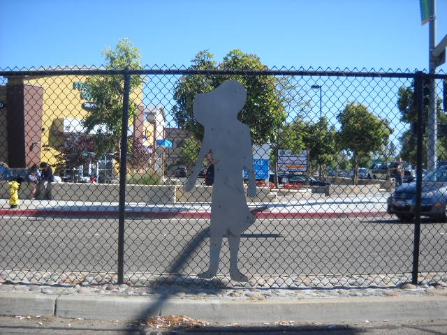 Fencing at corner of Clairemont Ave. & Genesee.