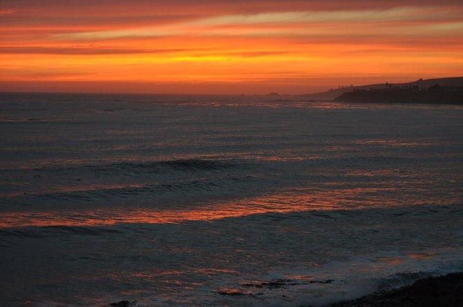 130 miles south of Tijuana. a beautiful sunset.