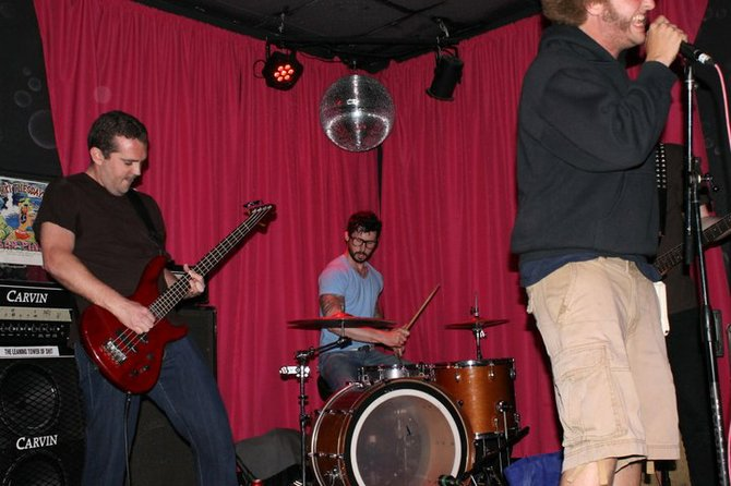 Firsties! Download Syndrome set the stage at the inaugural Pink Punk Lotto show.