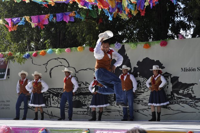 Folk Dancers from all over Mexcio come and celebrate Feista La Mission.