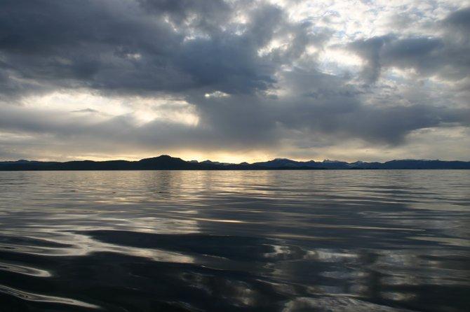 Waterfront view of Alaskan peaks