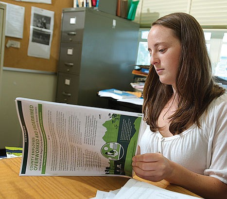 Lauren Tracey is 1 of 13 students who worked  on the study.