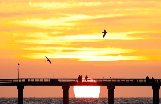 OB Pier sunset.