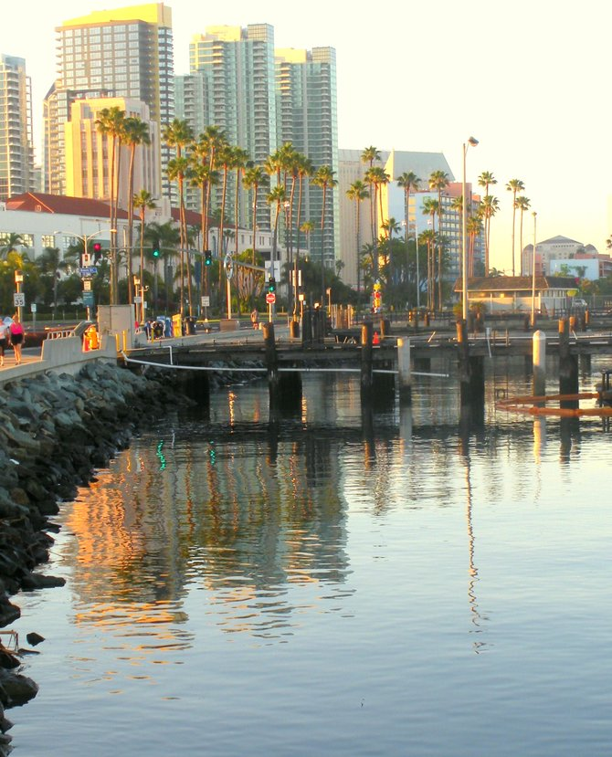 Another beautiful morning along the waterfront in downtown San Diego.