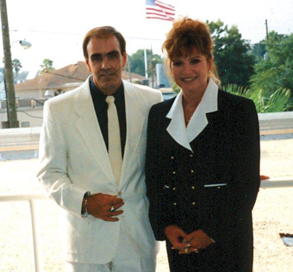 Bob Elliott with friend in September 1997.