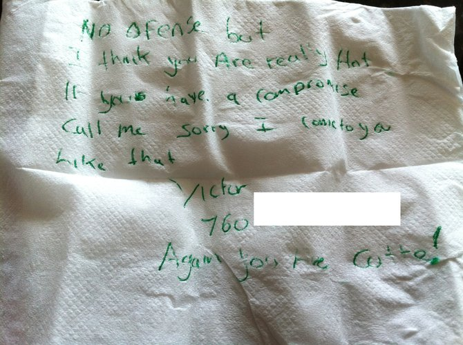 The actual note