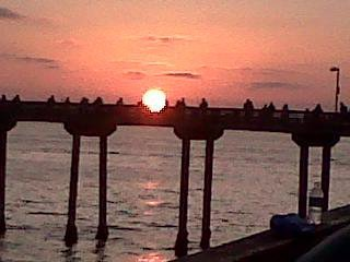 Taken on the O.B. Pier back in July, everyday is a beautiful day in OB!!!