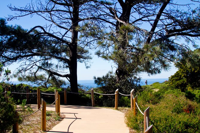 An enchanting walkway leading up to the old lighthouse at the Cabrillo National Monument in San Diego, California