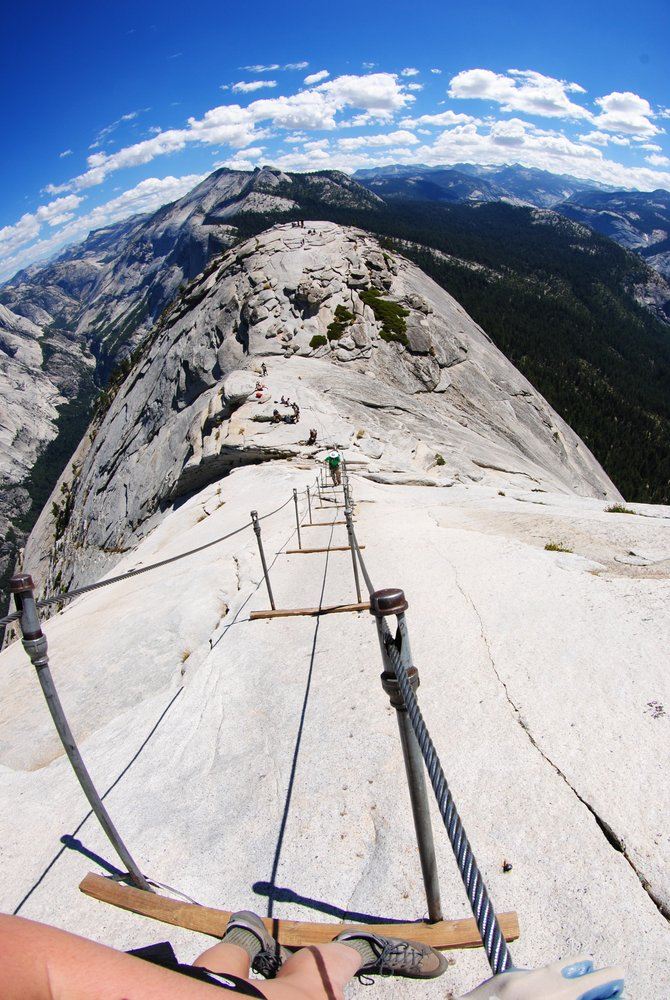 Coming down from Half Dome in Yosemite National Park