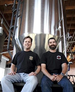 Dan Selis and John Egan of Mission Brewery