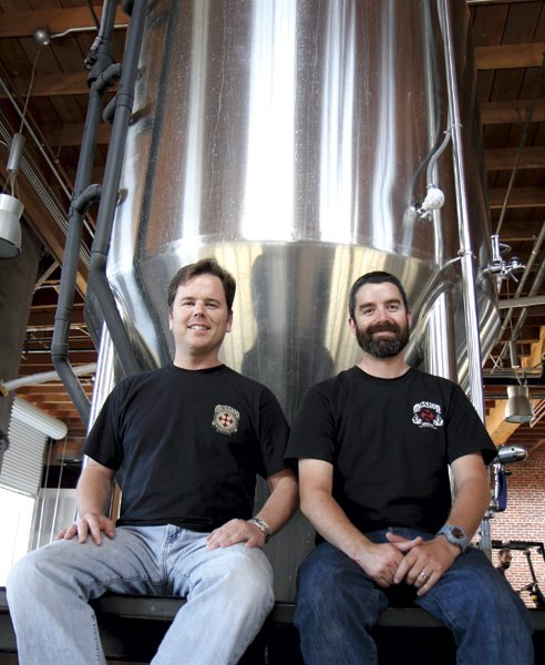 Dan Selis and John Egan of Mission Brewery