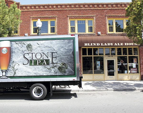 Stone Brewing Company delivers their own and 32 other craft-beer brands  to restaurants and bars such as the Blind Lady Ale House in Normal Heights.