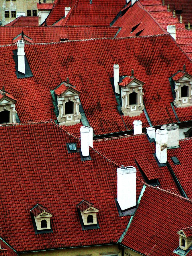 Red Roofs on Old Prague.