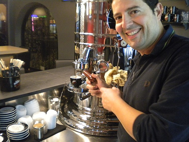 Hector shows how to brew the perfect espresso
