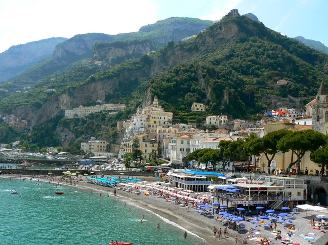 Amalfi, along the dramatic Amalfi Coast, Italy: A bit reminiscent of the Big Sur coastline in California
