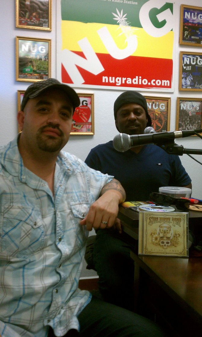 Ras Mike (left) hosts The Ganga Block, which airs daily at 4:20.