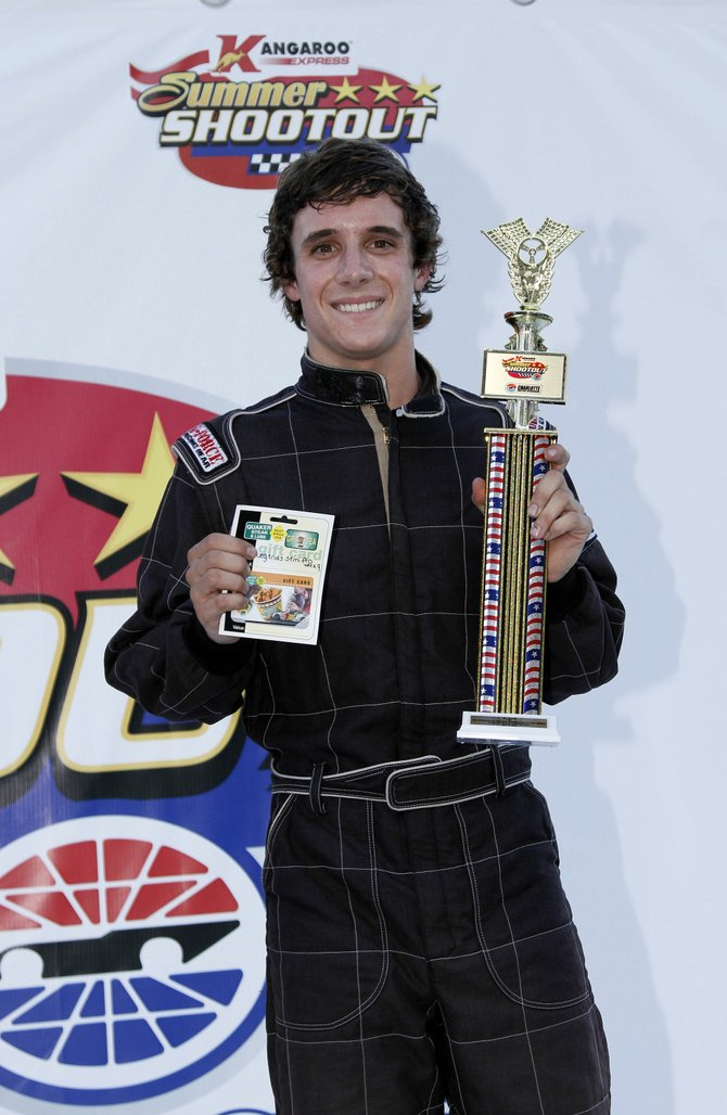 Chase Catania aims to be a NASCAR racer.