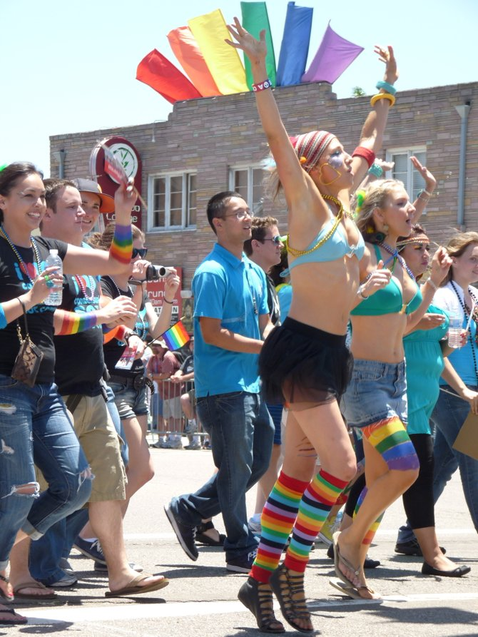 A scene from San Diego PRIDE July 16, 2011.