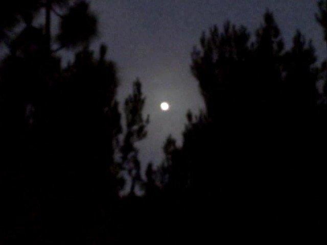 Moon rise in La Mesa.