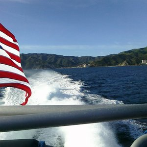 Farewell to Catalina Island from the back of the ferry.