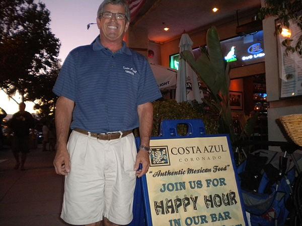 Brant Sarber outside his Costa Azul restaurant, probable watering hole for Rebecca Zahau and Jonah Shacknai