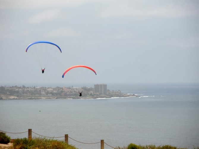 Looking towards La Jolla from the Glider Port over Blacks Beach.