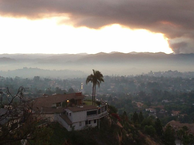 2007 Fires. Taken from Mt. Helix looking east.