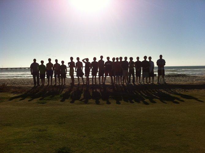 A team on the beach