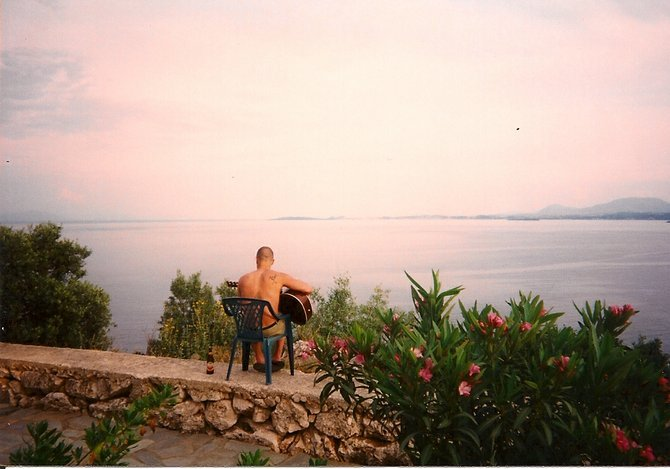 Overlooking the Ionian Sea in Corfu