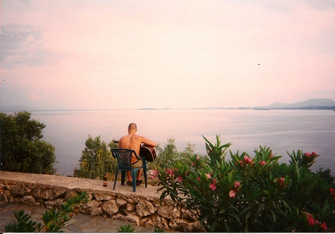 Overlooking the Ionian Sea in Corfu