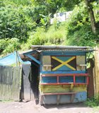 Jamaica - even a backyard shack is vibrant with color